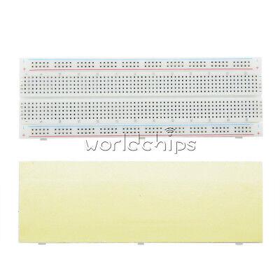 2Pcs MB-102 Solderless Breadboard Protoboard 830 Tie Points 2 buses Test Circuit 4