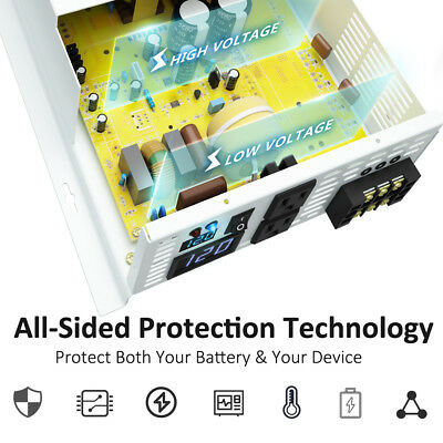 24V to 120V DC to AC Pure Sine Wave Inverter 3500W Solar Power Inverter Home 4