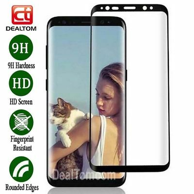 For Samsung Galaxy S9 S8 Plus Note 9 4D Full Cover Temper Glass Screen Protector 4