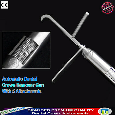 Dental automatic Crown Remover Gun type with Five Accessories Crowns Removal Set 2