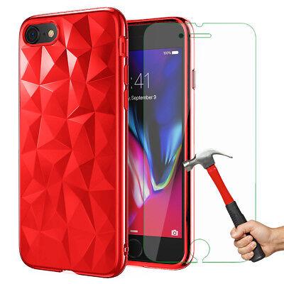 Antichoc Cristal Coque iPhone 8 7 6s 6 Plus XR XS Max 11 Pro+ Vitre Verre trempé 8