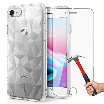 Antichoc Cristal Coque iPhone 8 7 6s 6 Plus XR XS Max 11 Pro+ Vitre Verre trempé 5
