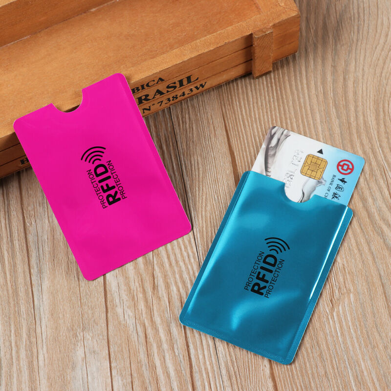 Credit Cards Card Holder Protect Case Cover RFID Blocking Sleeve Wallet 10