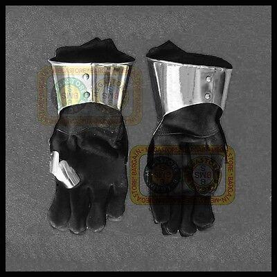 Antike Medieval Steel Gauntlet Gloves Reenactment Functional Armor Gloves Reproduction