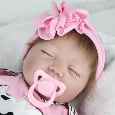 "22"" Handmade Reborn Baby Doll Newborn Lifelike Silicone Vinyl Kids Birth Gifts 3"