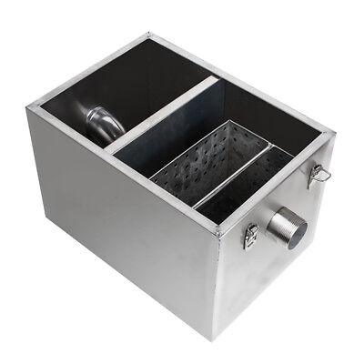 USA Stainless Steel Commercial Grease Trap Interceptor Filter Kit for Restaurant 4