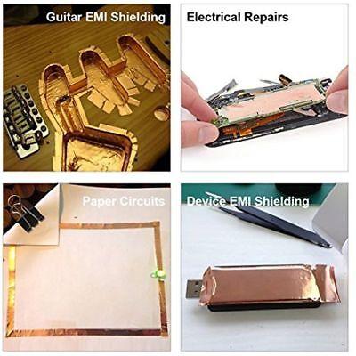 Copper Foil Shielding Tape Electric Guitar Bass 50mm x 2m Conductive Adhesive 3