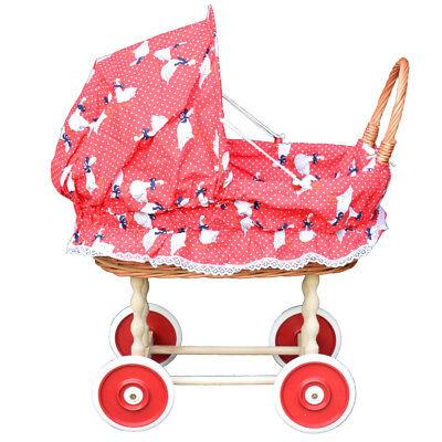 Puppenwagen aus Weide Holz Weidenwagen Kinderwagen Weidenpuppenwagen Handarbeit Puppen & Zubehör