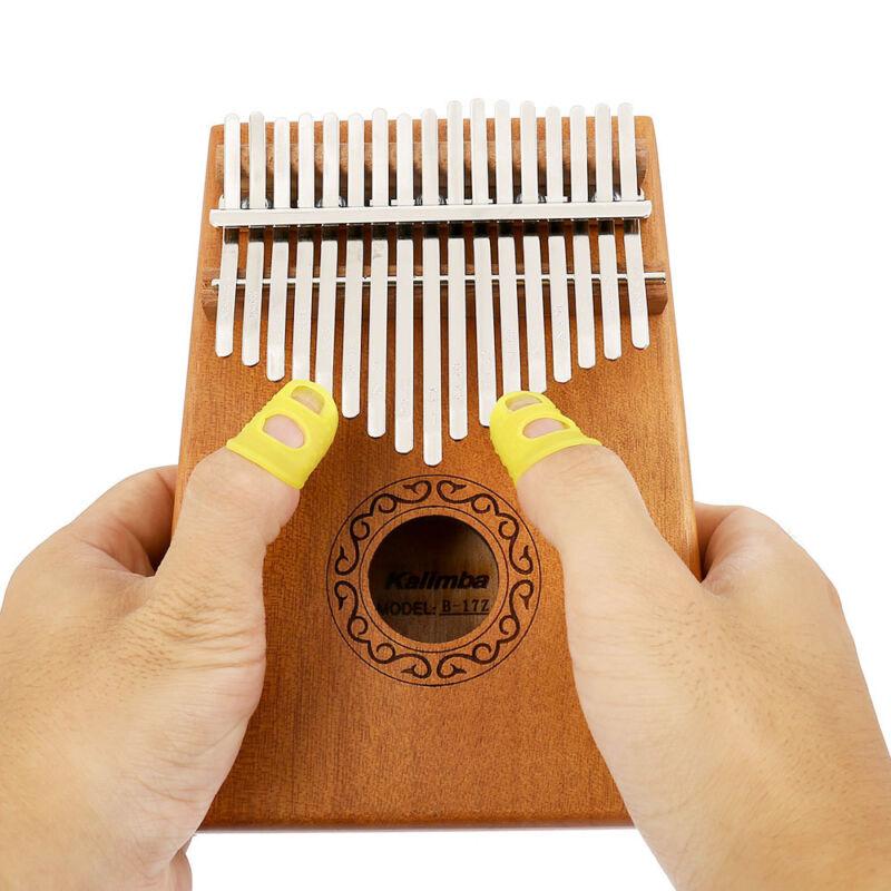 17-key Kalimba Portable Thumb Piano Mbira Mahogany Wood with Carry Bag au 9