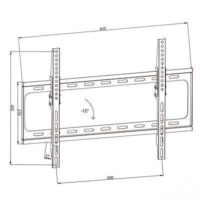 "Support TV mural inclinable pour écran 32"" à 63"" 81-160 cm ultra plat LCD LED"