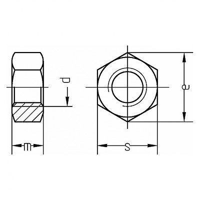 Stahl Klasse 8 Feingewinde galv M 72 x 6 verzinkt fa DIN 934 Sechskantmutter