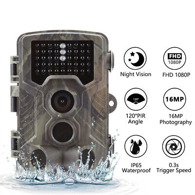 UK 16MP Hunting Trail Camera HD 1080P Wildlife Scouting Cam Night Vision IP65 5