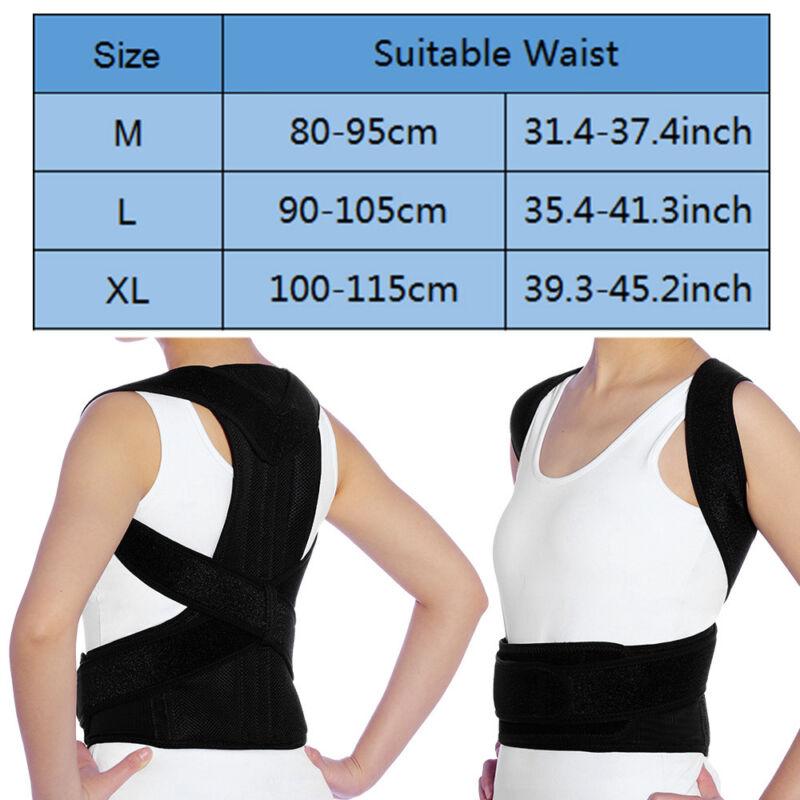 M/L/XL Rückenbandage Rückenhalter Haltungskorrektur Gürtel Rücken Stabilisator 2