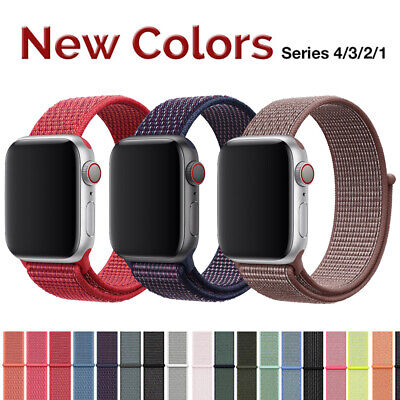 For Apple Watch Series 5/4/3/2 Nylon Sports Loop iWatch Band Strap 38/40/42/44mm 4
