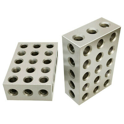 2 PC 2 4 6 Metal Block 23 Holes Milling Drilling Machining Ultra Precision .0003 2