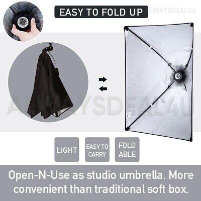 1350W Photography Studio Softbox Continuous Lighting Soft Box Light Stand Kit UK 7