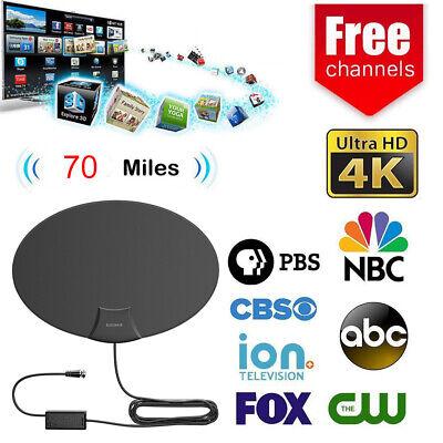 1080P Flat HD Digital Indoor Amplified TV Antenna with Amplifier 70 Miles Range 2