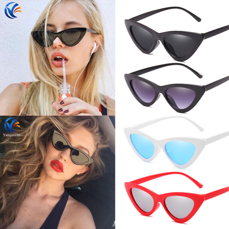 Womens Cat Eye Sunglasses Retro Classic Designer Vintage Fashion Shades Eyewear 3