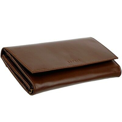 32375138824b0 ... ESPRIT Damen Geldbörse 18 Kartenfächer Portemonnaie Geldbeutel Leder  Brieftasche 11