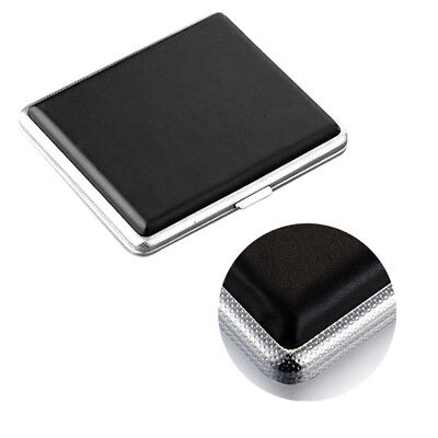 Stainless Steel PU Leather Cigar Cigarette Tobacco Case Pocket Pouch Holder Box 3