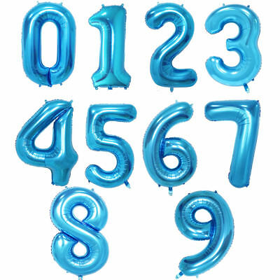 """32"""" 40"""" Giant Foil Number Balloons letter Air Helium Birthday Age Party Wedding 5"""