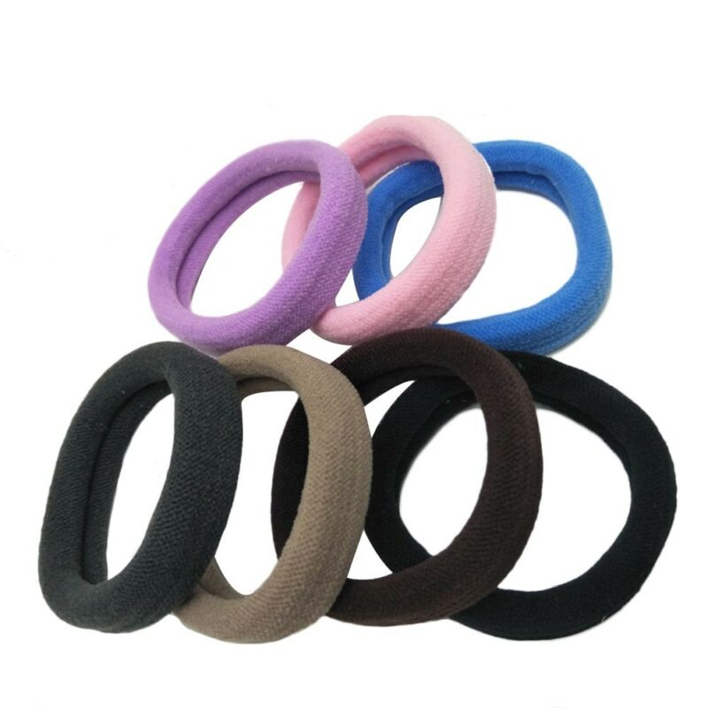 24Pcs Stretch Hair Ties Bands Rope Ponytail Holders Thick Heavy Hair Headband 2