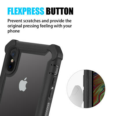 Hybrid Shockproof Heavy Duty Clear Case Fits In iPhone XS Max/XR/X/6/6s/7/8 Plus 3