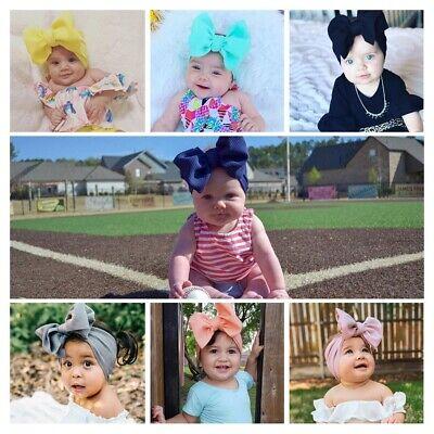 Baby Rabbit Headband Cotton Elastic Bowknot Hair Band Girls Bow-knot Newborn Bow 2