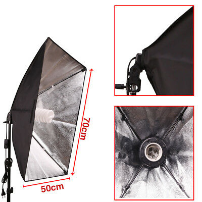 Photography Studio Softbox Lighting Soft Box Video Continuous Light Stand Kit UK 5