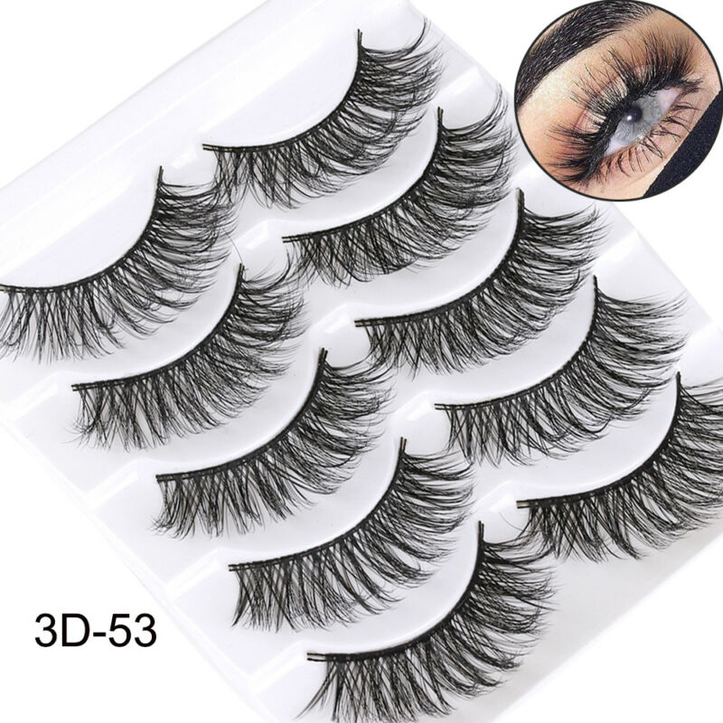 5Pairs 3D Faux Mink Hair False Eyelashes Extension Wispy Fluffy Think Lashes. 7