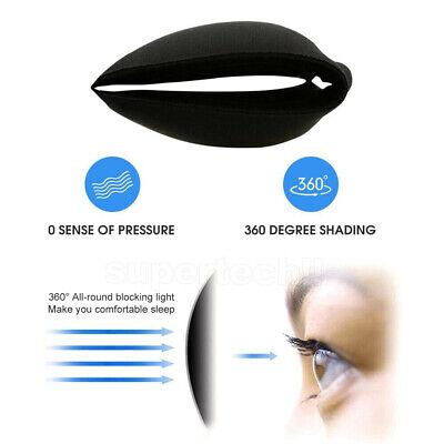 4x Travel Sleep Eye Mask Soft Memory Foam Padded Shade Cover Sleeping Blindfold 6