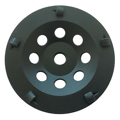 """4.5"""" PCD Grinding Cup Wheel Epoxy Glue Mastic Paint Removal 5 Segments 2"""