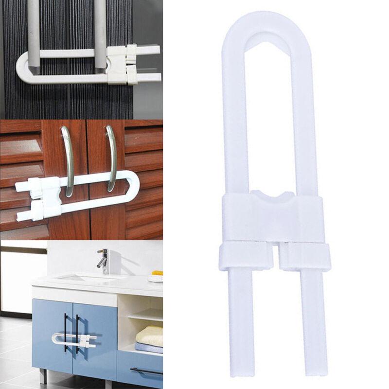Baby Safety Lock U Shape Kids Cabinet Locks Protection Cabinet Security Locking 3