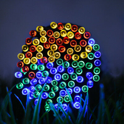 50/100/200 LED Solar Power Fairy Garden Lights String Outdoor Party Wedding Xmas 6