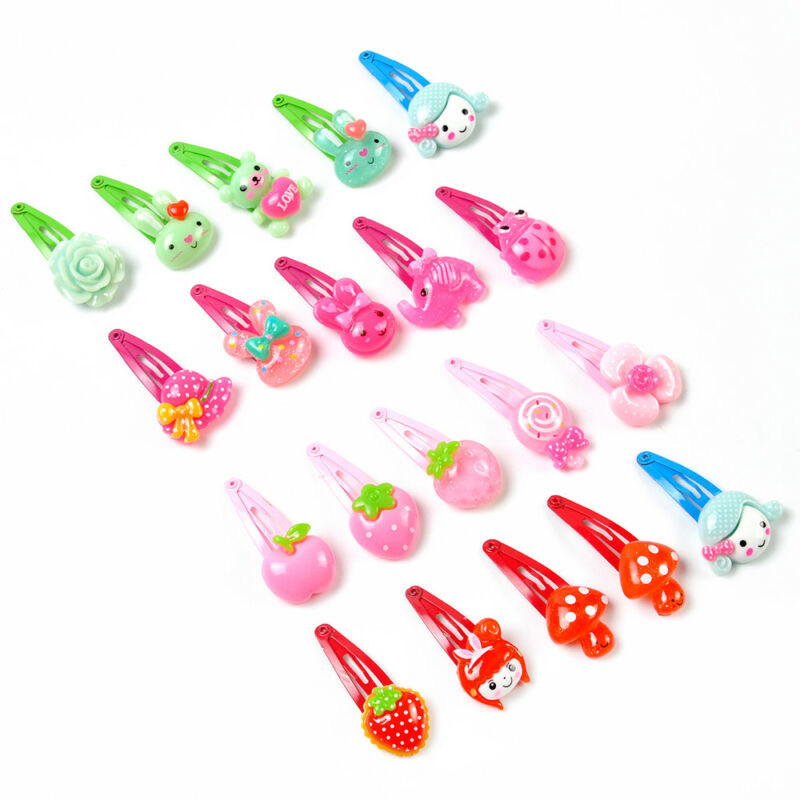 Wholesale 20pcs/Sets Mixed Cartoon Baby Kids Girls HairPin Hair Clips Jewelry- 6