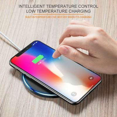 Fast Qi Wireless Charger Dock For iPhone X 8 plus XR XS Samsung S8 S9 plus Note9 8