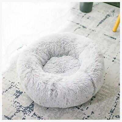 Large Pet Bed Luxury Shag Warm Fluffy Dog Bed Nest Cat Mattress Fur Donut Pad UK 5