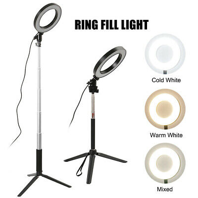 Studio LED Ring Light w/ Tripod Stand Dimmable Photo Video Lamp Kit For Camera 2
