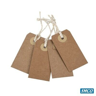 LUGGAGE TAGS Hardware Labels Manila BROWN Buff LARGE STRUNG TAGS All Sizes 6