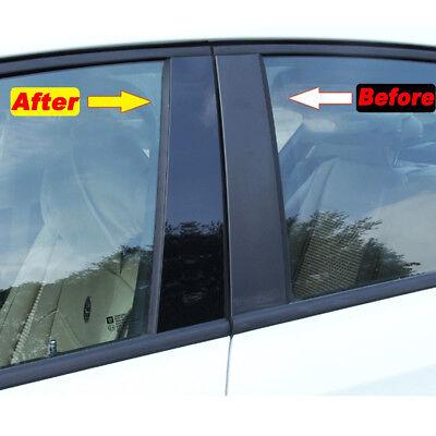 Fits BMW 7 Series 95-01 Royal Black Glossy Door Pillar Post Accessories B-Pillar