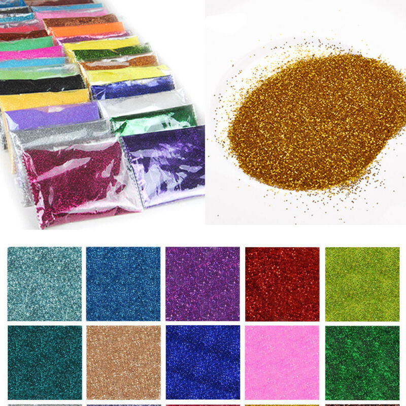 100g Shine Rainbow Color Nail Glitter Powder Dust For DIY Crafts Nails Floristry 4