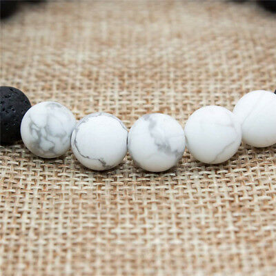 8mm Beads Natural Aromatherapy Lava Stone Healing Bracelet For Men Women Jewelry 12