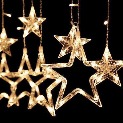 Weihnachtsdeko Lichter.Led Lichterkette Stern Vorhang Fenster Baum Weihnachtsdeko Flash Lichter