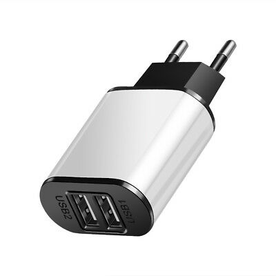 5V 2A EU Dual USB 2-Port Fast Charger Mobile Phone Wall Power Adapter For iPhone 11