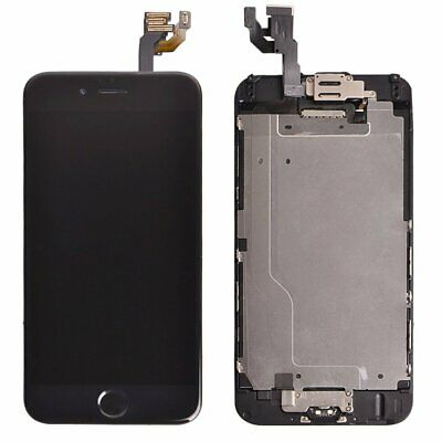 Display für iPhone 6 LCD Touch Screen KOMPLETT VORMONTIERT Glas Front Schwarz 5
