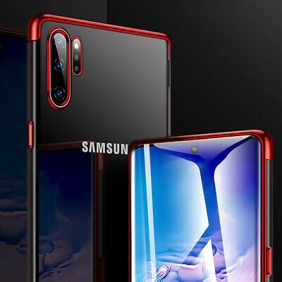 For Samsung Galaxy Note 10 Plus Shockproof Plating Rubber Clear Slim Case Cover 2