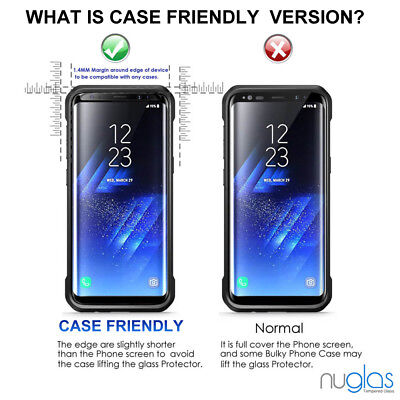 Samsung Galaxy S9 S8 Plus Note 9 8 NUGLAS Tempered Glass Full Screen Protector 6