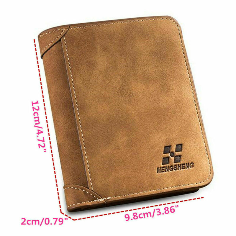 PURSE BLACK CREDIT CARD HOLDER MENS LUXURY SOFT QUALITY LEATHER WALLET