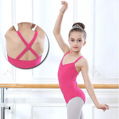 2c2839ed6c6c KIDS CHILD GIRL Dance Leotard Stretch Bodysuit Ballet Training Dress ...