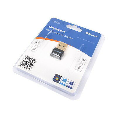 Simplecom USB Bluetooth 4.0 Widcomm Adapter Wireless Dongle with A2DP EDR 6